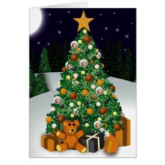 gay bears christmas tree greeting card - Bear Christmas Tree