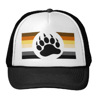Gay Bears Pride Flag and Bear Paw Trucker Hat