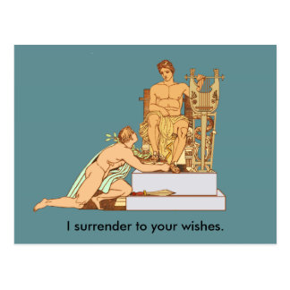Gay Birthday Surrender to Wishes Postcard