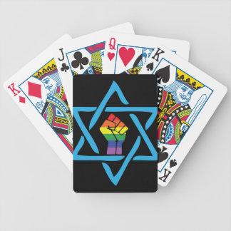 Gay Black Jewish Bicycle Playing Cards