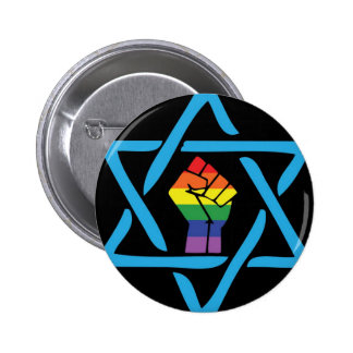 Gay Black Jewish Button