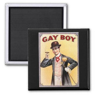 Gay Boy 2 Inch Square Magnet