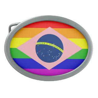 GAY BRAZIL (GAY PRIDE DESIGN) BELT BUCKLE