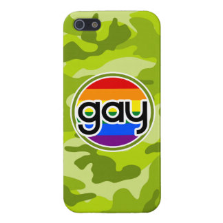 Gay; bright green camo, camouflage iPhone 5 covers