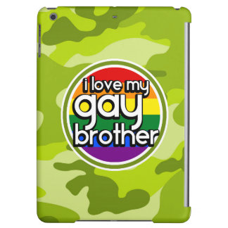 Gay Brother; bright green camo, camouflage iPad Air Covers