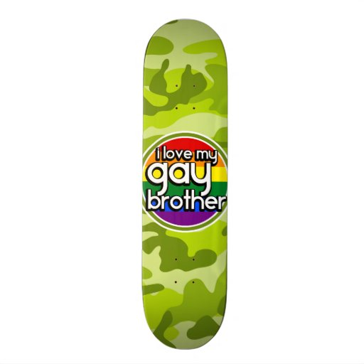 Gay Brother; bright green camo, camouflage Skate Board Deck