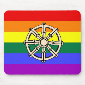 Gay Buddhist Pride Mouse Pad