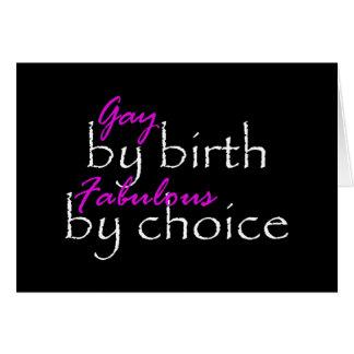 Gay By Birth Card