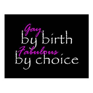 Gay By Birth Postcard