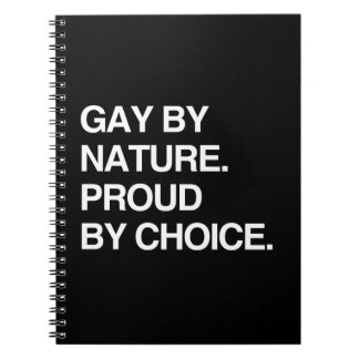 GAY BY NATURE. PROUD BY CHOICE NOTE BOOKS