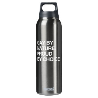 GAY BY NATURE. PROUD BY CHOICE 16 OZ INSULATED SIGG THERMOS WATER BOTTLE