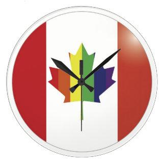 Gay Canadian Flag Wall Clock