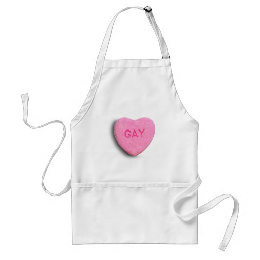 Gay Candy Heart Apron