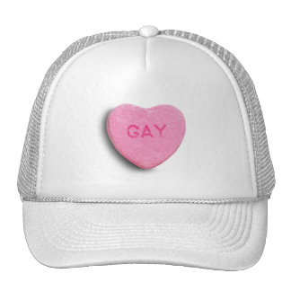 GAY CANDY HEART HAT