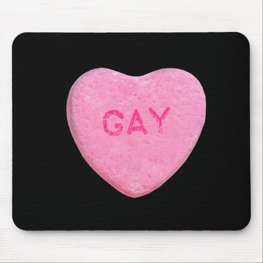 Gay Candy Heart Mouse Pads