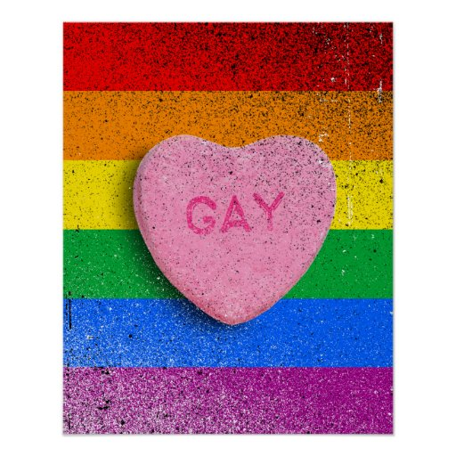 GAY CANDY HEART POSTERS