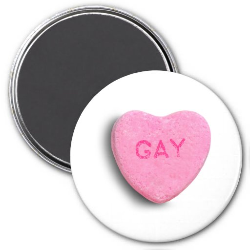 Gay Candy Heart Refrigerator Magnets