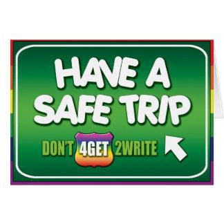 Gay Cards - Safe Trip