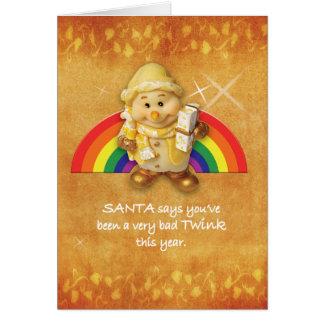 Gay Cards - Xmas Elf 01