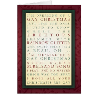GAY CHRISTMAS GREETING CARDS
