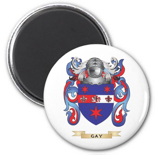 Gay Coat of Arms (Family Crest) Fridge Magnet