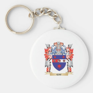 Gay Coat of Arms - Family Crest Keychain