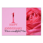 Gay Couple Anniversary Card Pink Rose