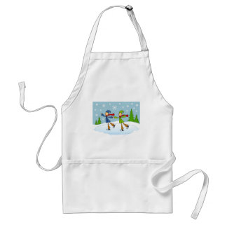 gay couple ice skating adult apron