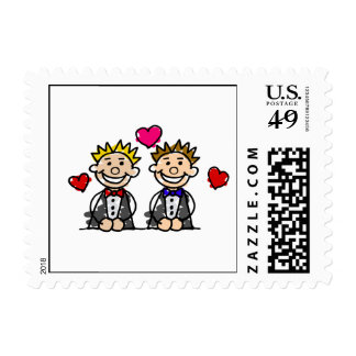 Gay Couple Postage Stamp