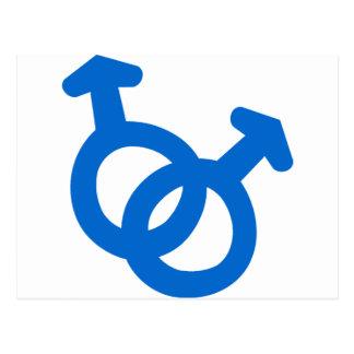 Gay Couple Symbol Postcard