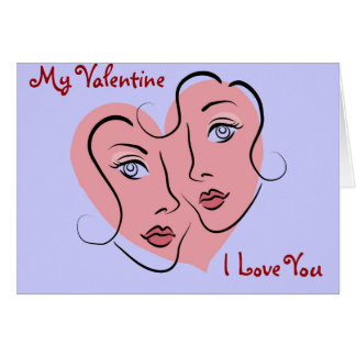 Gay couple valentine card
