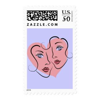 Gay couple valentine postage