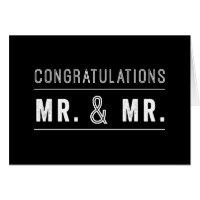 Gay Couple Wedding Congratulations Card