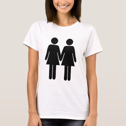 Gay couple women hand in hand t shirt zazzle for Full hand t shirts for womens