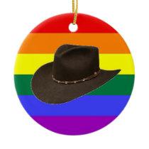 Gay Cowboy Pride Ornament