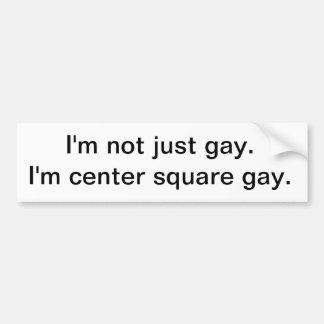 gay cuadrado de centro pegatina para auto