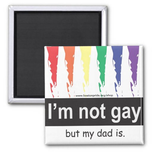 Gay Dad Magnet Square