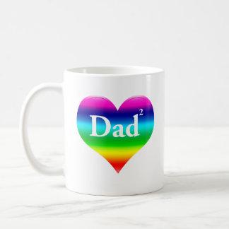 Gay Dad Squared LGBT Mug