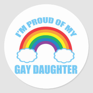 Gay Daughter Classic Round Sticker