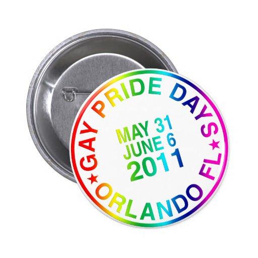 Gay Days 2011 Pinback Button