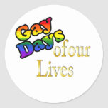 Gay Days Of Our Lives Classic Round Sticker