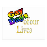 Gay Days Of Our Lives Postcard
