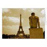 Gay de la torre Eiffel del cumpleaños Tarjeta De Felicitación
