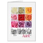 Gay de tía Valentine's, rosas del arco iris Tarjetas