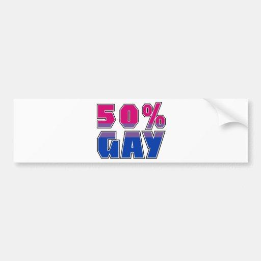Gay del 50% pegatina de parachoque
