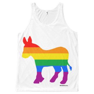 GAY DEMOCRAT Politiclothes Humor -.png All-Over Print Tank Top