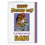 Gay - día de padres feliz - 2 papás tarjeta de felicitación