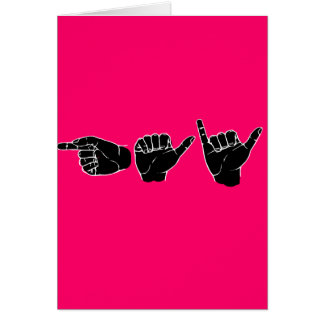 Gay en el lenguaje de signos (línea de la recogida tarjetas