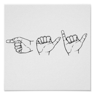 Gay en el lenguaje de signos .png póster