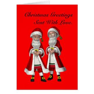 Gay, enviado con navidad del amor tarjeta de felicitación